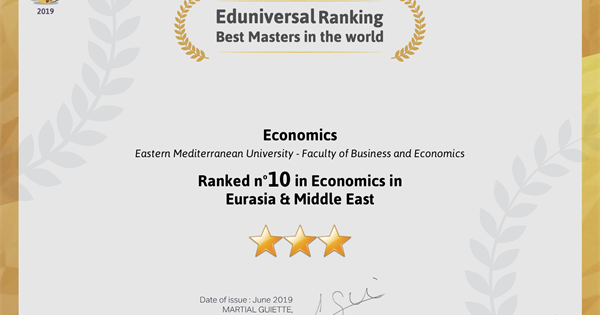 Department of Economics Ranked n