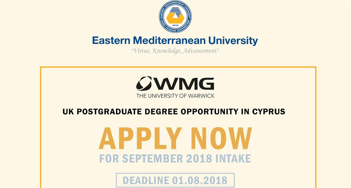 UK Postgraduate Degree Opportunity in Cyprus