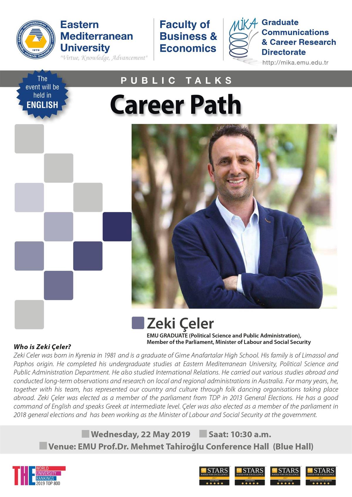 Career path by Zeki Celer