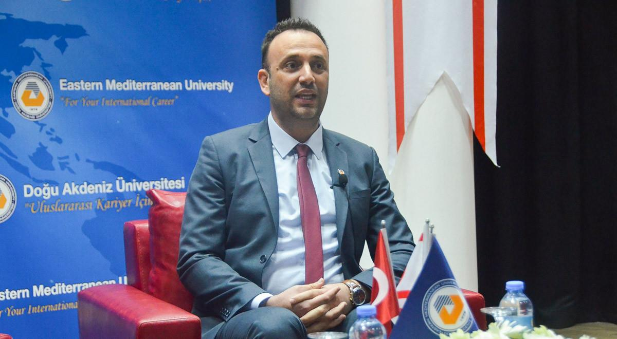 Labour and Social Security Minister Zeki Çeler Delivers Talk at EMU