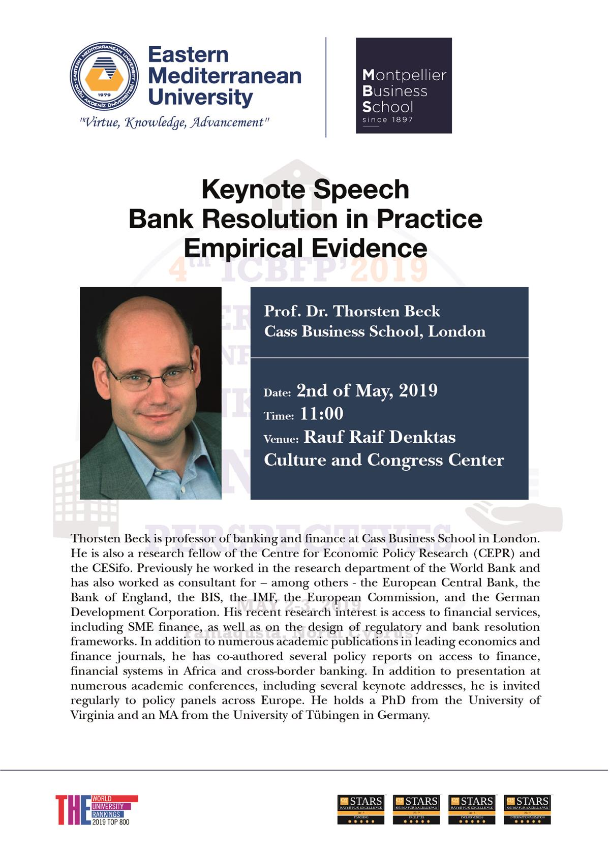 Keynote Speech on Bank Resolution in Practice: Emperical Evidence