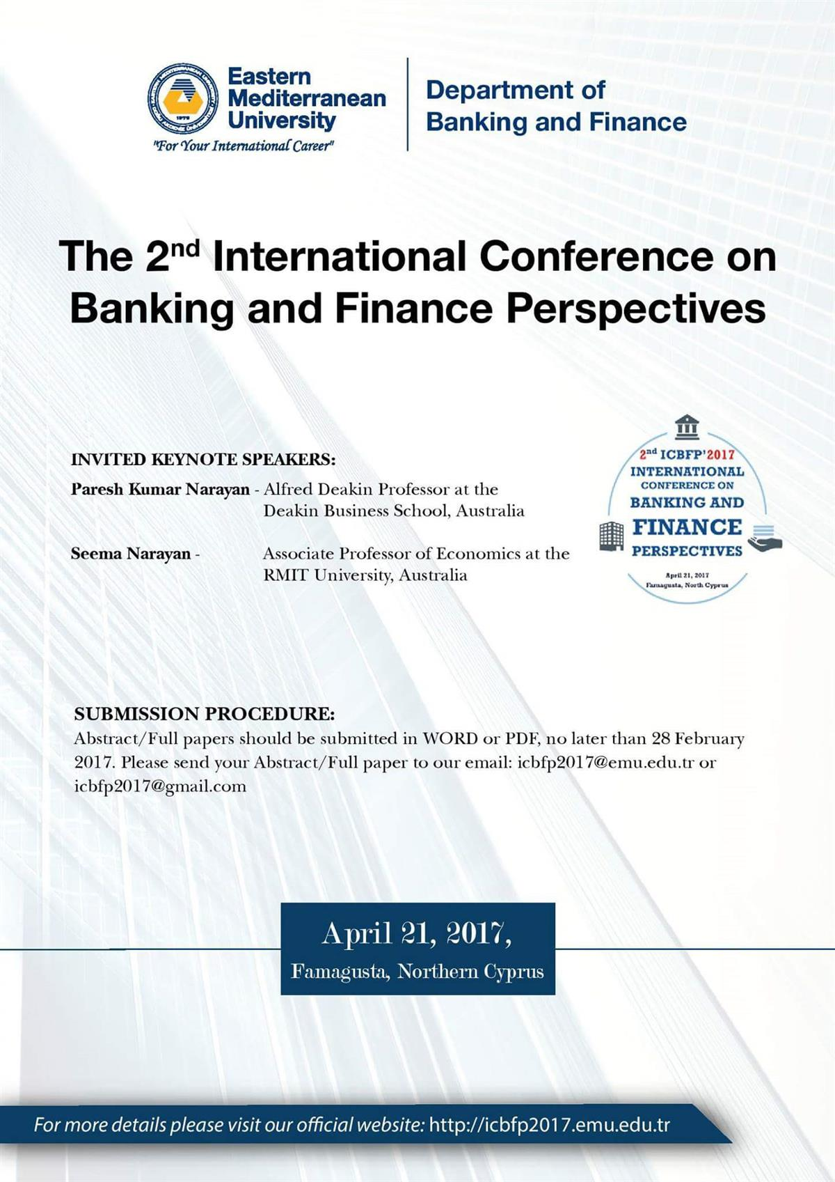 2nd International Conference on Banking and Finance Perspectives (ICBFP)